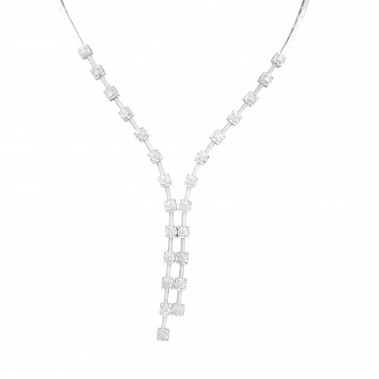 Aligned Squares Necklace