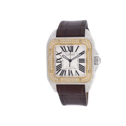 Cartier Santos 100 XL Automatic Steel/Yellow Gold